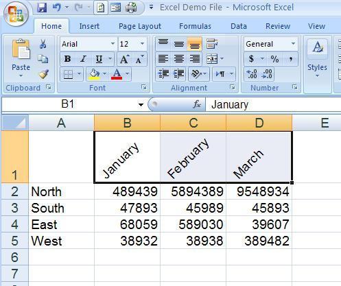 Hur Angle text i Microsoft Excel 2007