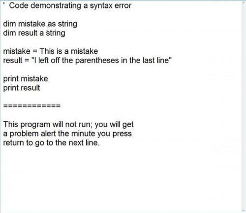 Vad är en Syntax fel?