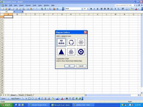 Hur man sätter in ett organisationsschema i Excel