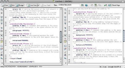 Hur man använder Dreamweaver CS4 horisontell och vertikal Split View
