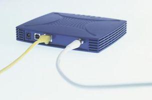 Hur man ansluter skålen nätverk till bredband