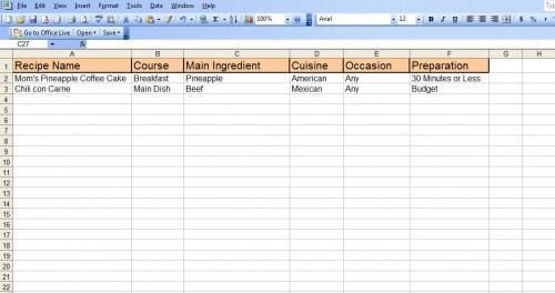 Hur man skapar ett Excel-recept kalkylblad