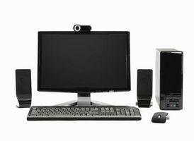 Hur du ansluter externa högtalare till en dator