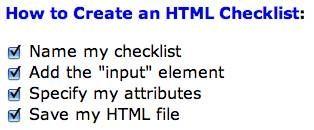 Hur man gör en checklista i HTML