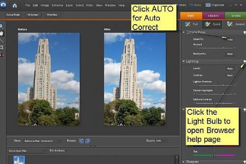 Hur man använder Quick Fix Med Adobe Photoshop Elements 6