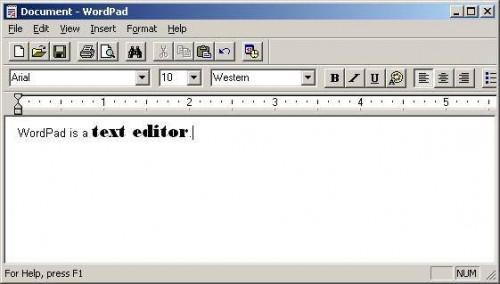 Installera om WordPad